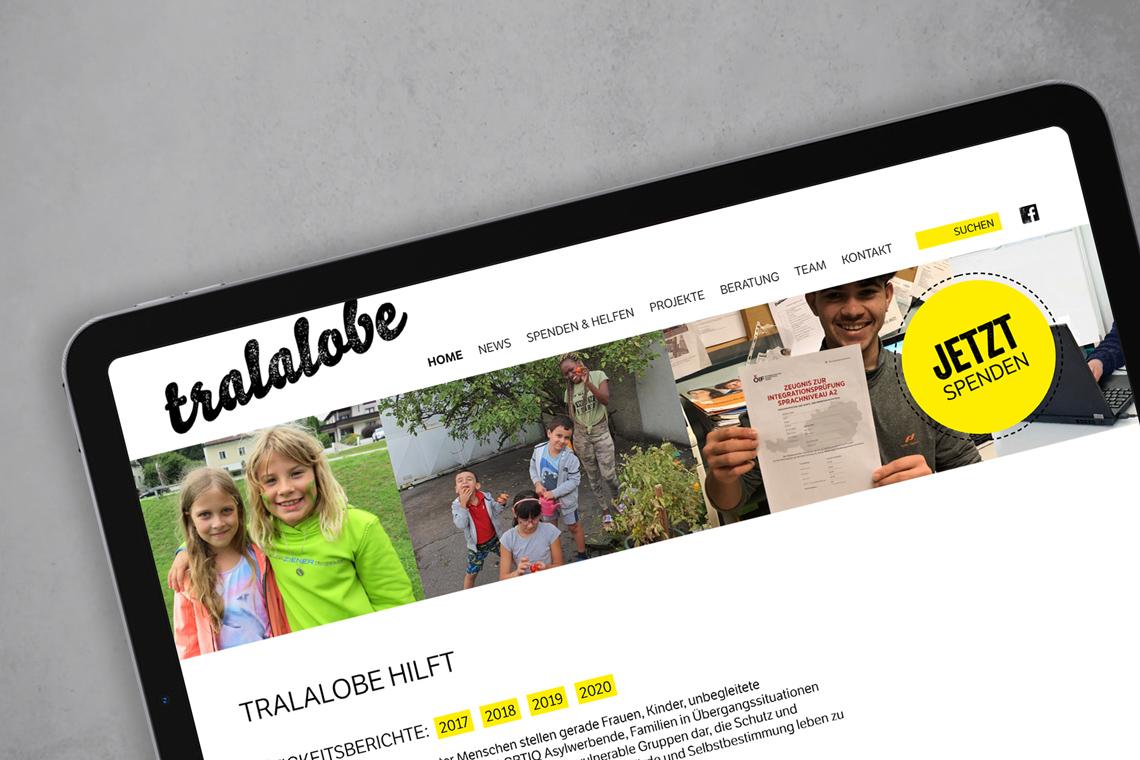 Tralalobe Website Startseite